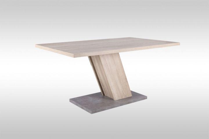 Esstisch mit Säulenfuß in Sonoma Betonoptik Esszimmer Tisch L160 cm Mö24