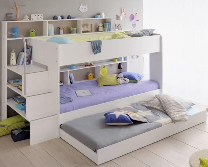 Etagenbett Schutz : Das weiß lackierte hochbett kinto mit besonders hohen schutz rahmen