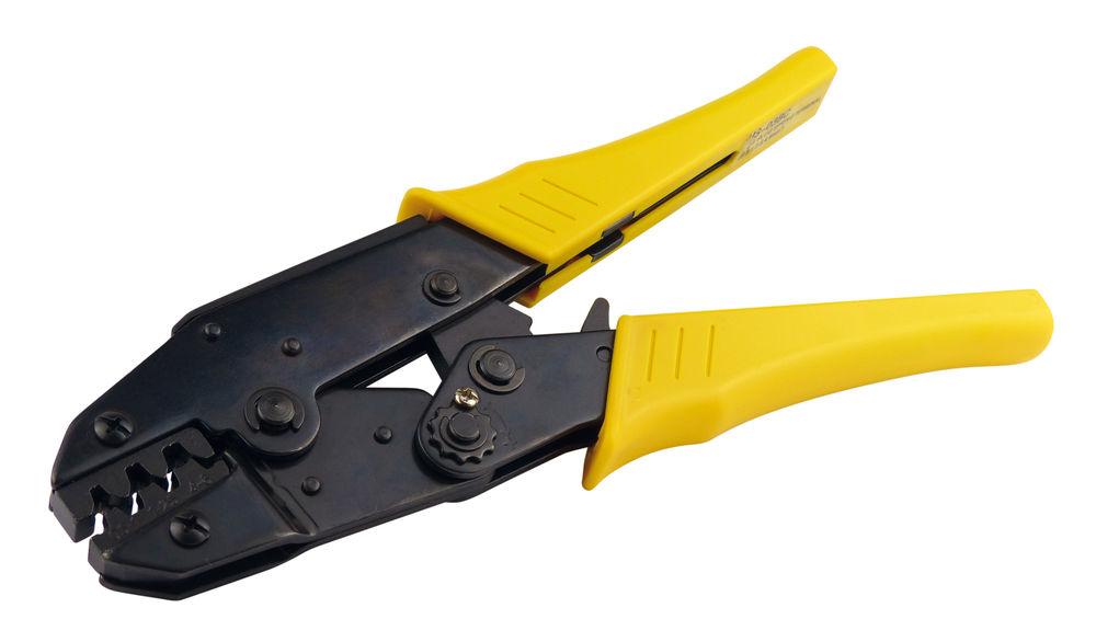 Crimpzange für unisolierte Kabelschuhe 0,5-6mm² Quetschzange Presszange Zange