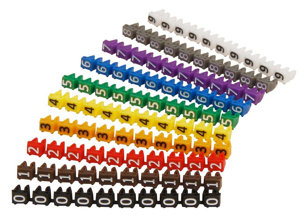 Kabelmarkierer Zahlen Beschriften Kabelbeschriftung Clip Kabelmarker Kabel Farbe