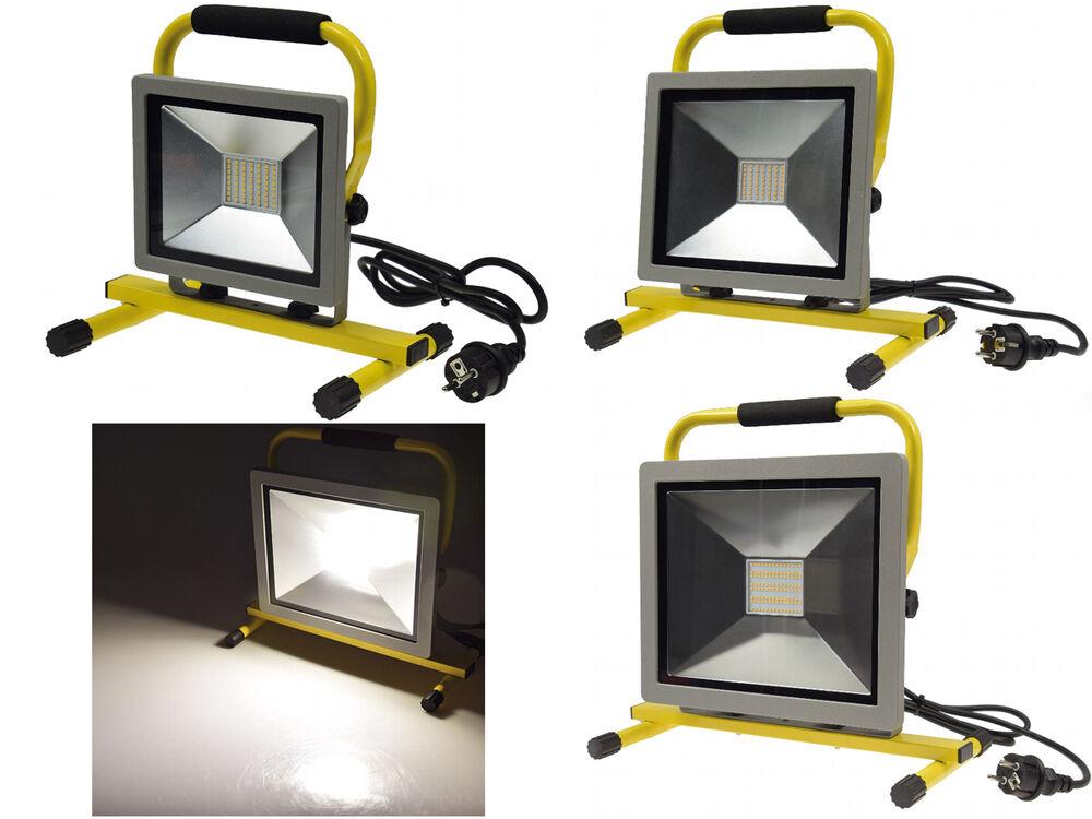 LED Baustrahler 50W Flutlicht Baustellenlampe Arbeitsleuchte Strahler Fluter