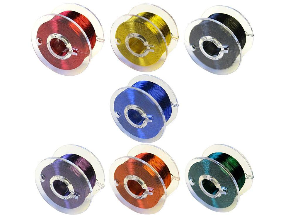 Set 10m cuivre lackdraht 0,15 mm rouge #2,d gratuite vert bleu et noir