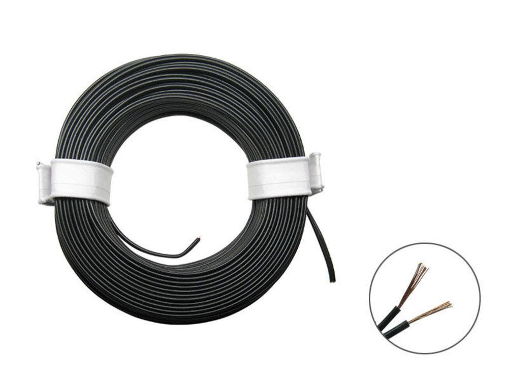 10m Kabel Litze 0,04mm² grau Decoderlitze hochflexibel 1-adrig 10 Meter Ring