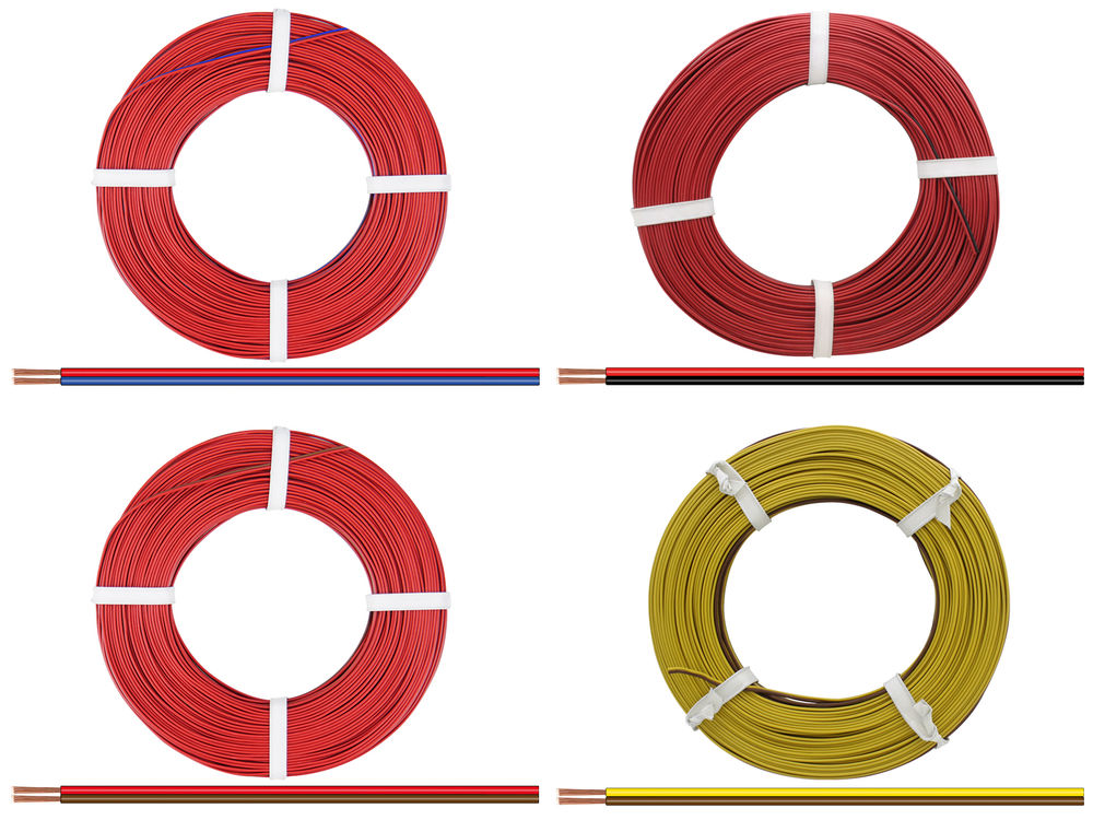 5m Kabel Litze Zwillingslitze 2x0,14mm² einfarbig grau Schaltlitze 5 Meter