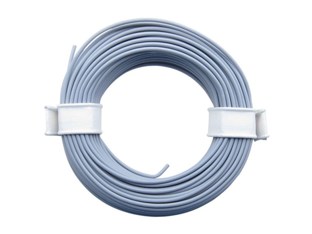 Ring 10m Kupferlitze 0,14mm² isoliert Kabel Litze Schaltlitze grau 858318