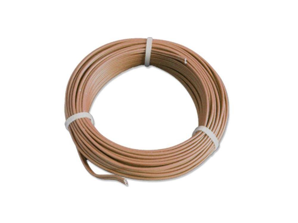 5m Kabel Litze Zwillingslitze 2x0,14mm² Gelb//Braun Doppellitze 5 Meter Ring