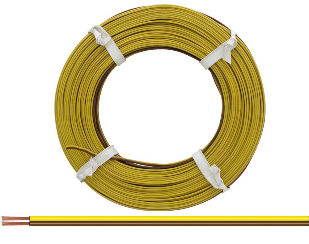 25m LIFY Kabel Litze 1x0,14mm² Gelb Kupferlitze Schaltlitze 25 Meter Spule