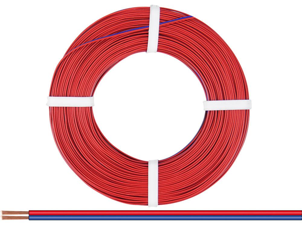 50m Kabel Litze Drillingslitze 3x0,14mm² rot//schwarz//grün 50 Meter Schaltlitze