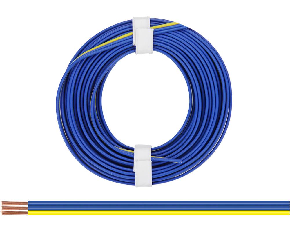 25m LIFY Kabel Litze 1x0,14mm² Blau Kupferlitze Schaltlitze 25 Meter Spule