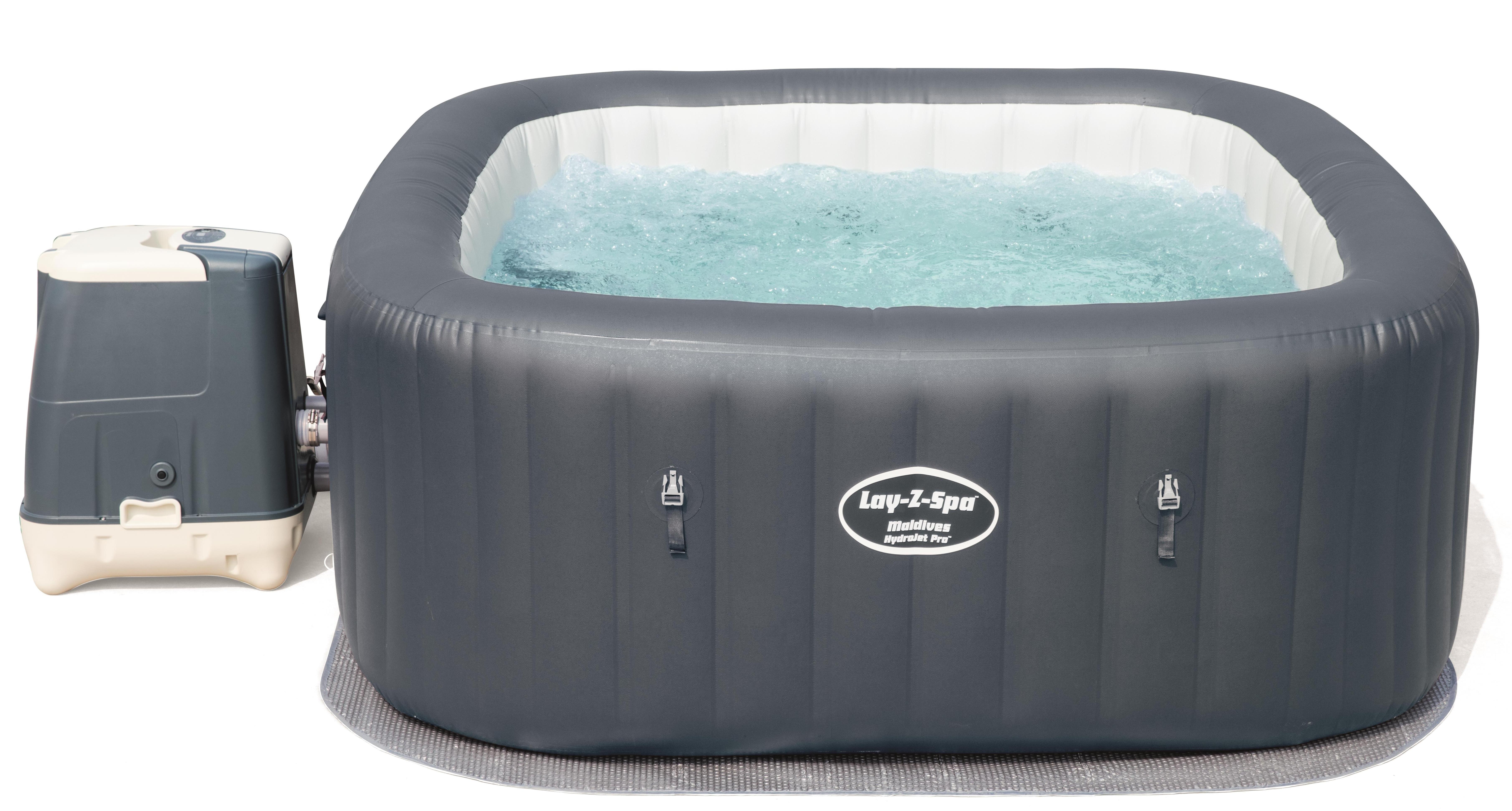 Bestway Whirlpool Lay-Z-Spa Miami Innen Außen 180x66 cm aufblasbar Heizung Pool