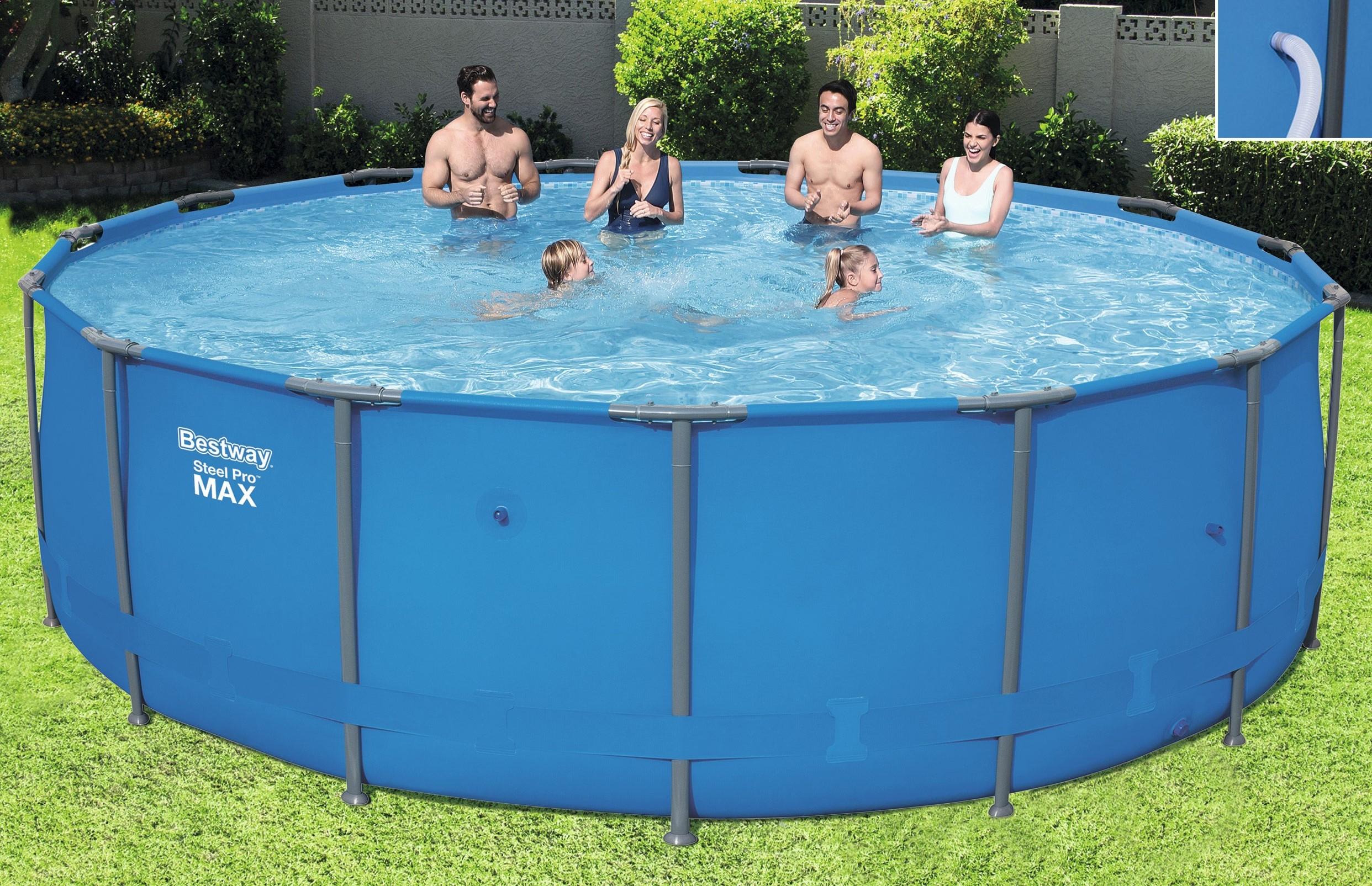 Intex frame stahlrohrbecken swimming pool schwimmbad for Swimmingpool selbstaufstellend