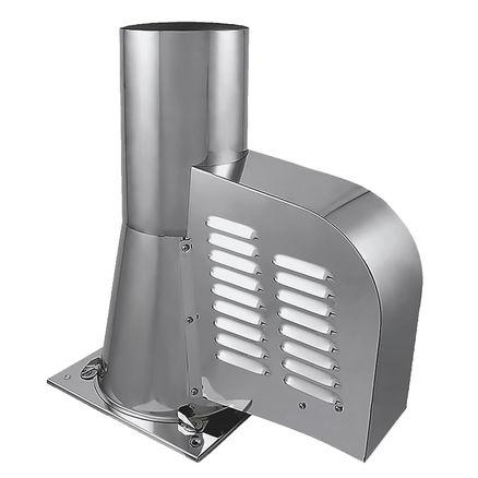 rauchsauger mit bodenplatte aus edelstahl schornstein ventilator bis 400 c ebay. Black Bedroom Furniture Sets. Home Design Ideas