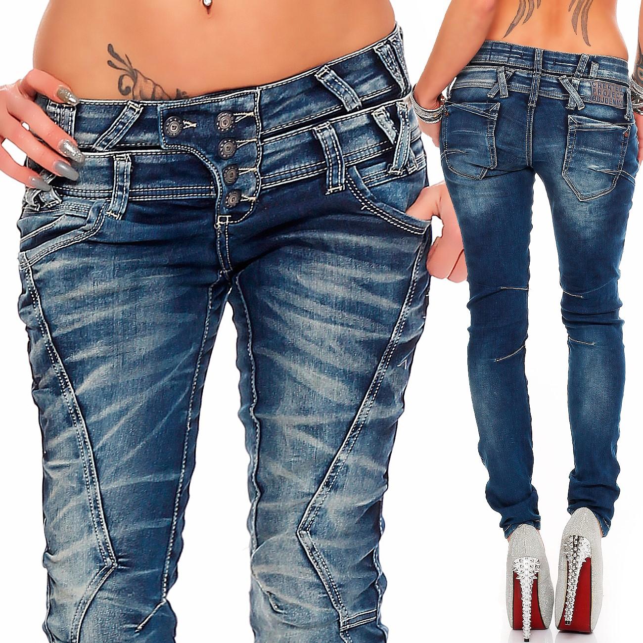 Verschiedene-Cipo-amp-Baxx-Damen-Jeans-Hosen-Slim-Fit-Regular-Fit-Streetwear Indexbild 40