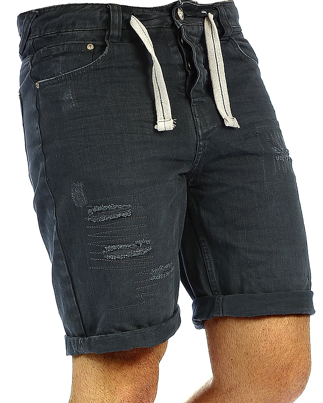 herren jeans shorts capri kurze hose mens pants denim. Black Bedroom Furniture Sets. Home Design Ideas