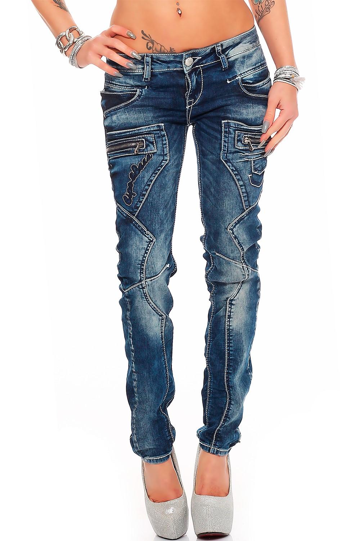 Verschiedene-Cipo-amp-Baxx-Damen-Jeans-Hosen-Slim-Fit-Regular-Fit-Streetwear Indexbild 22