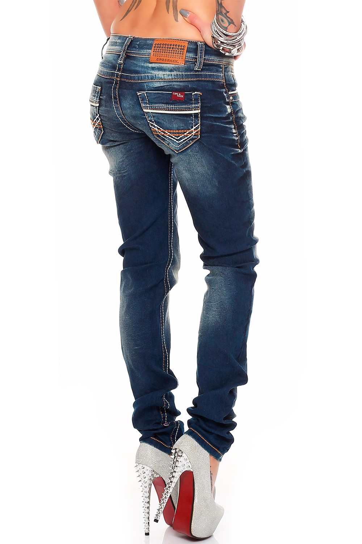 Verschiedene-Cipo-amp-Baxx-Damen-Jeans-Hosen-Slim-Fit-Regular-Fit-Streetwear Indexbild 28