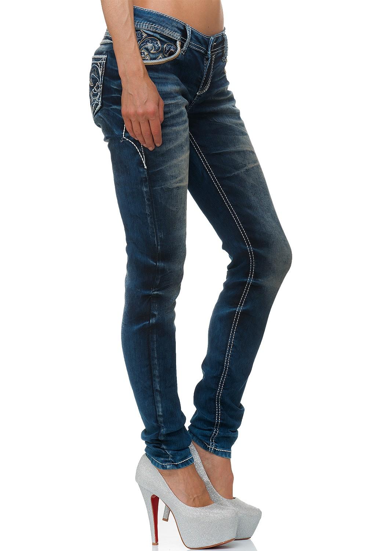 Verschiedene-Cipo-amp-Baxx-Damen-Jeans-Hosen-Slim-Fit-Regular-Fit-Streetwear Indexbild 69
