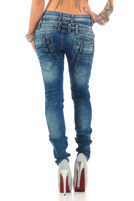 Verschiedene-Cipo-amp-Baxx-Damen-Jeans-Hosen-Slim-Fit-Regular-Fit-Streetwear Indexbild 44