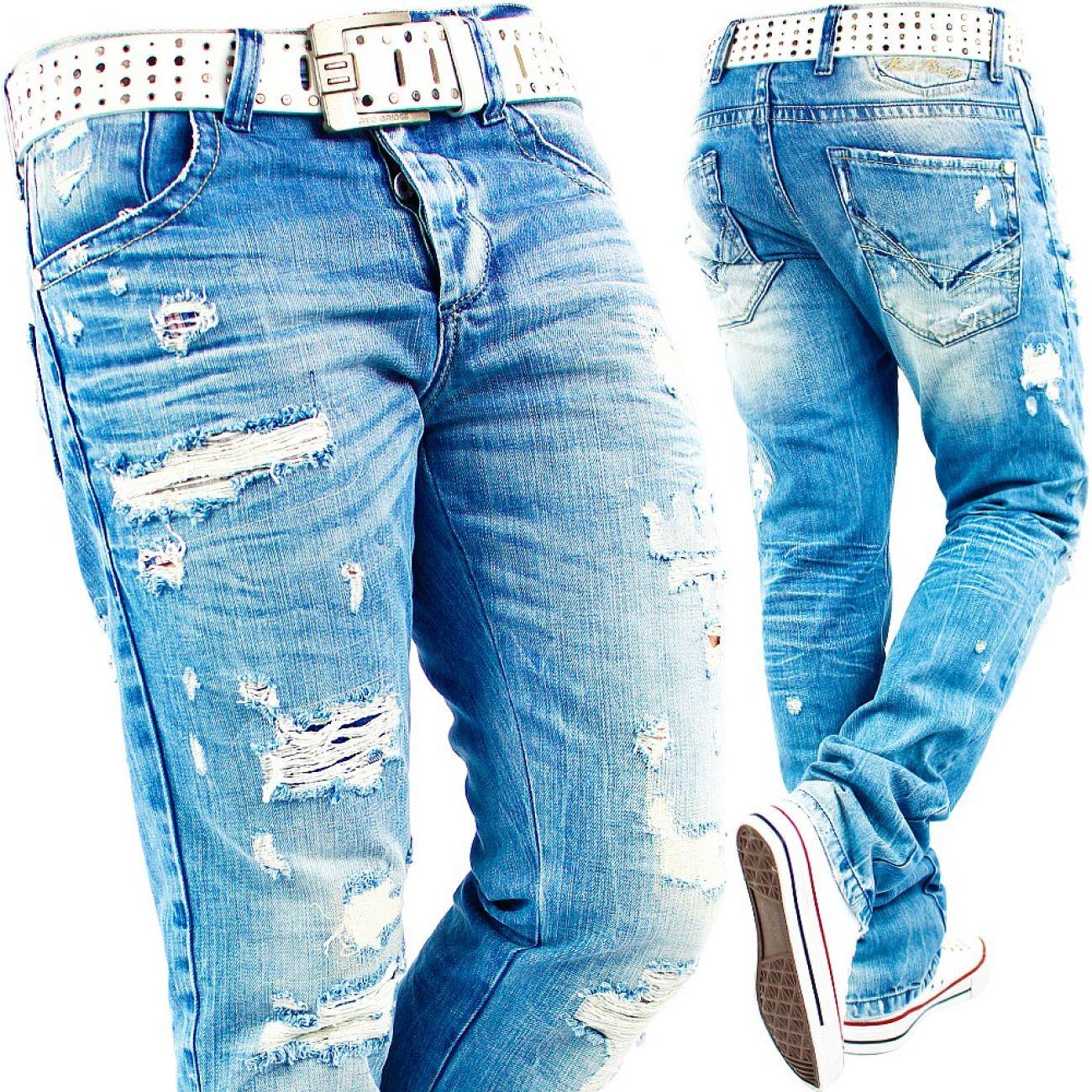 0c7b6cd4c827 RedBridge by Cipo Baxx Herren Jeans Hose Destroyed Denim Verwaschen ...