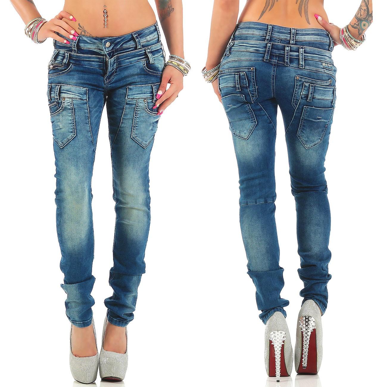 Verschiedene-Cipo-amp-Baxx-Damen-Jeans-Hosen-Slim-Fit-Regular-Fit-Streetwear Indexbild 42