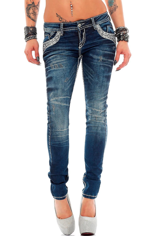Verschiedene-Cipo-amp-Baxx-Damen-Jeans-Hosen-Slim-Fit-Regular-Fit-Streetwear Indexbild 18