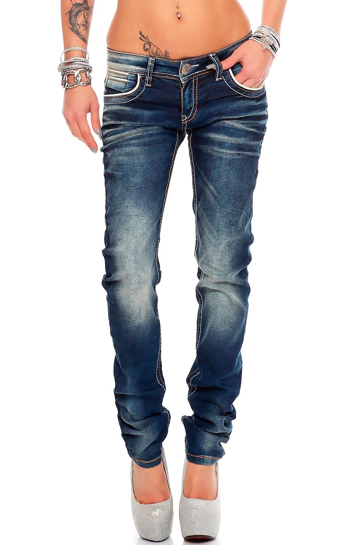 Verschiedene-Cipo-amp-Baxx-Damen-Jeans-Hosen-Slim-Fit-Regular-Fit-Streetwear Indexbild 27