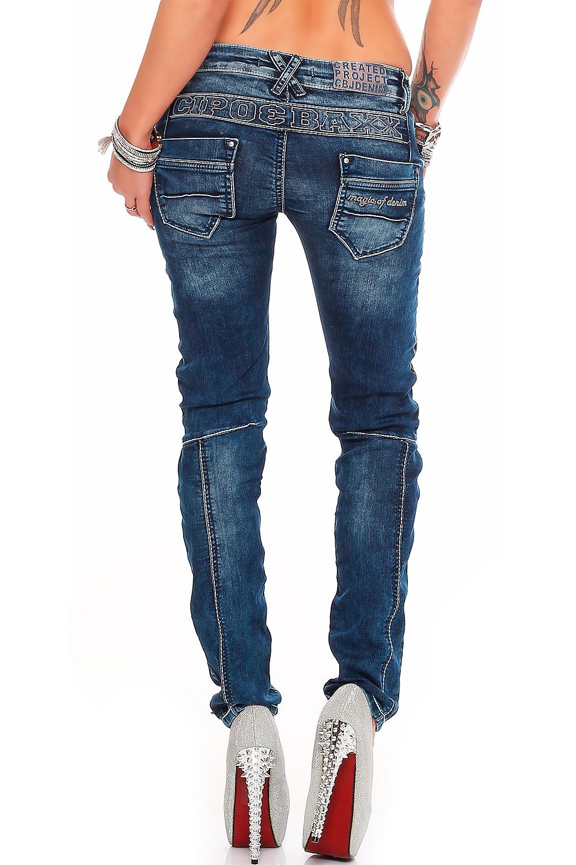 Verschiedene-Cipo-amp-Baxx-Damen-Jeans-Hosen-Slim-Fit-Regular-Fit-Streetwear Indexbild 24