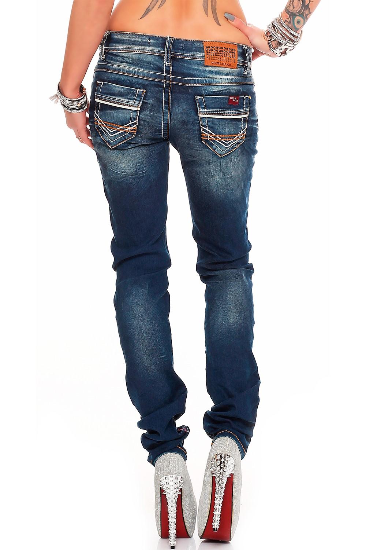 Verschiedene-Cipo-amp-Baxx-Damen-Jeans-Hosen-Slim-Fit-Regular-Fit-Streetwear Indexbild 29