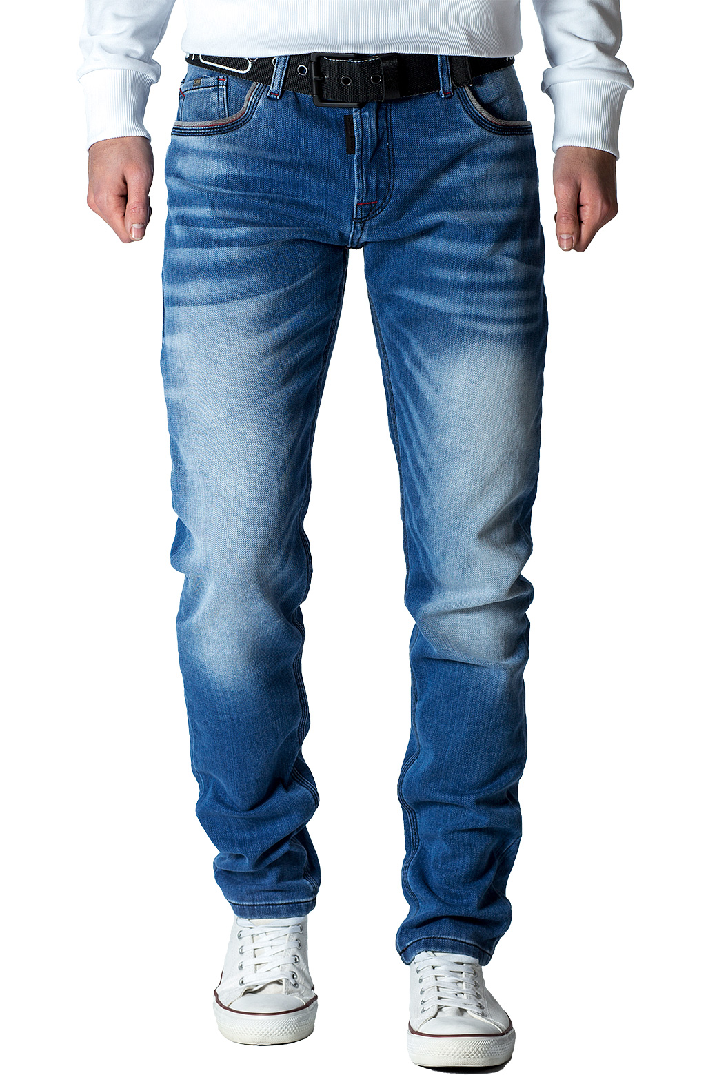 Cipo-amp-Baxx-Uomo-Jeans-Pantaloni-ricamate-Biker-Style-streetwear-nervature-pattern-Dope miniatura 19