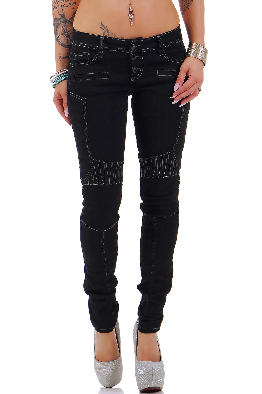Verschiedene-Cipo-amp-Baxx-Damen-Jeans-Hosen-Slim-Fit-Regular-Fit-Streetwear Indexbild 55