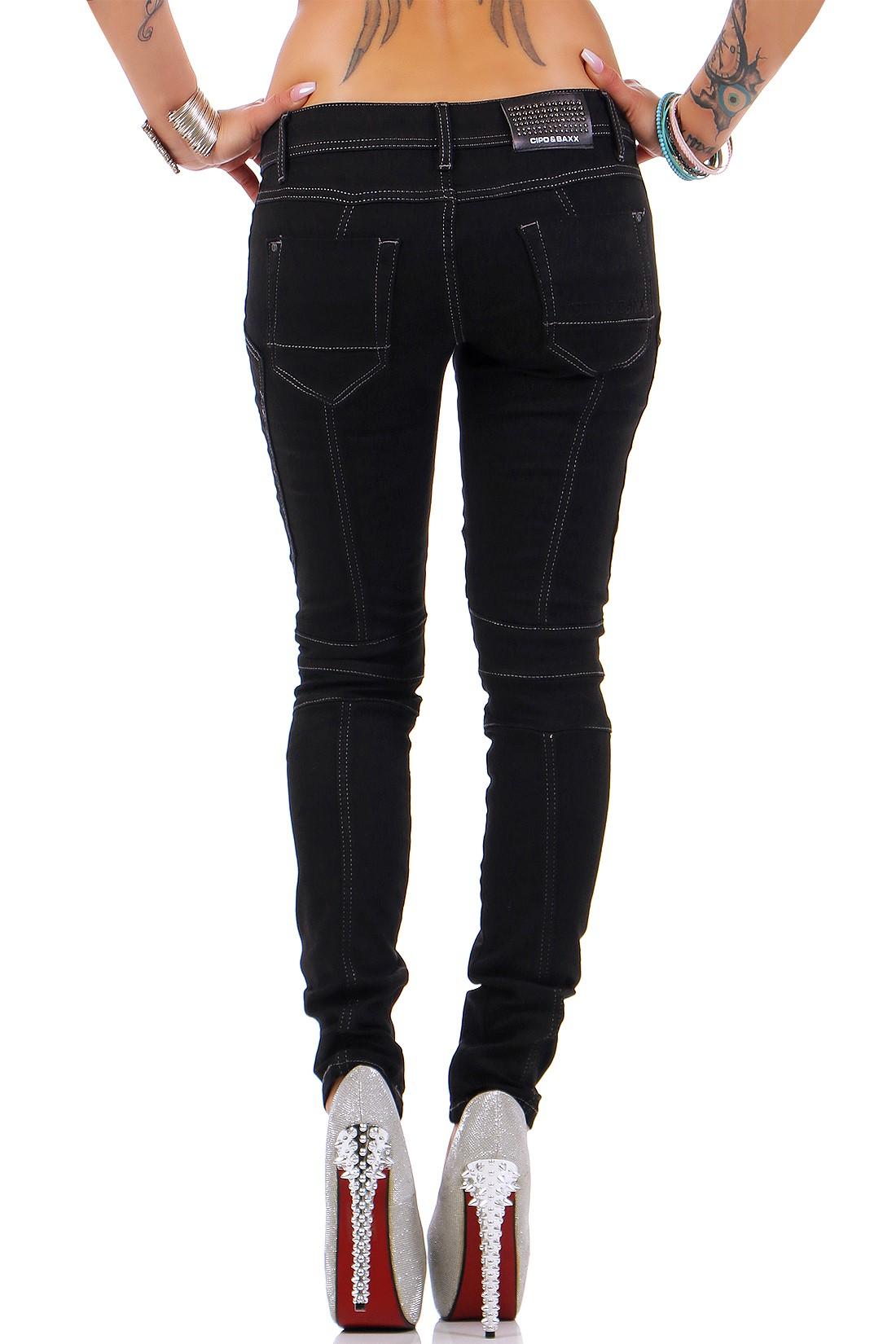 Verschiedene-Cipo-amp-Baxx-Damen-Jeans-Hosen-Slim-Fit-Regular-Fit-Streetwear Indexbild 56