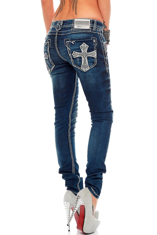 Verschiedene-Cipo-amp-Baxx-Damen-Jeans-Hosen-Slim-Fit-Regular-Fit-Streetwear Indexbild 19