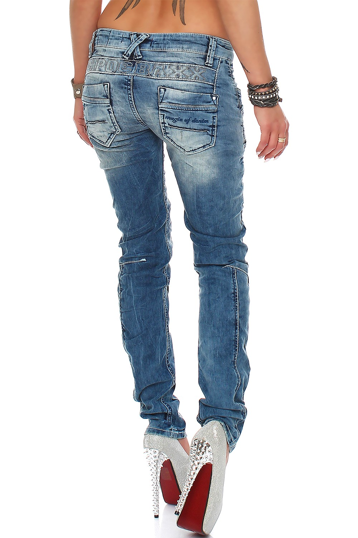 Verschiedene-Cipo-amp-Baxx-Damen-Jeans-Hosen-Slim-Fit-Regular-Fit-Streetwear Indexbild 64