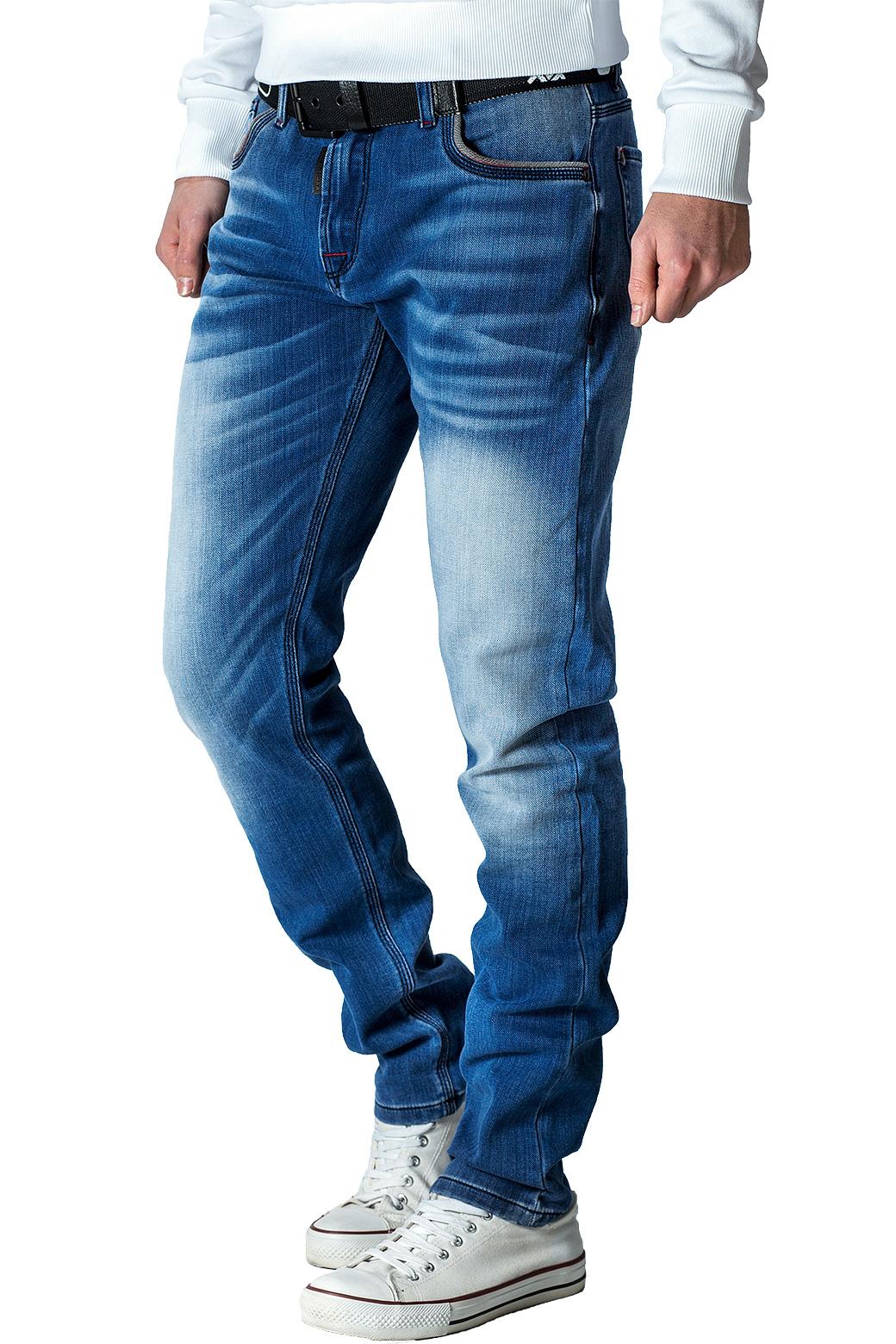Cipo-amp-Baxx-Uomo-Jeans-Pantaloni-ricamate-Biker-Style-streetwear-nervature-pattern-Dope miniatura 21