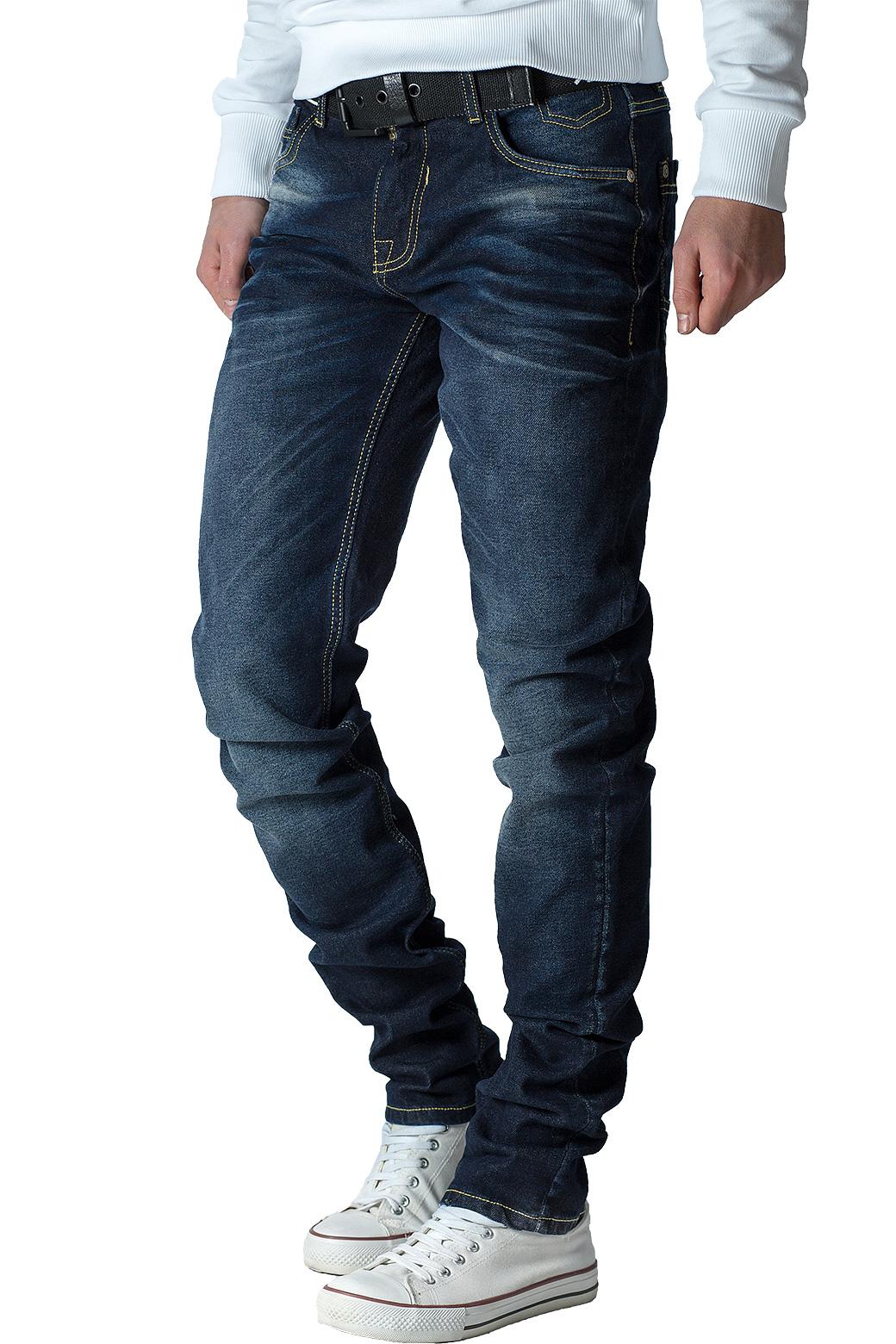 Cipo-amp-Baxx-Uomo-Jeans-Pantaloni-ricamate-Biker-Style-streetwear-nervature-pattern-Dope miniatura 31