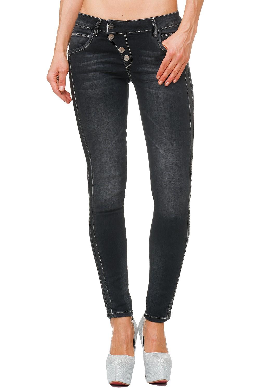 Verschiedene-Cipo-amp-Baxx-Damen-Jeans-Hosen-Slim-Fit-Regular-Fit-Streetwear Indexbild 72