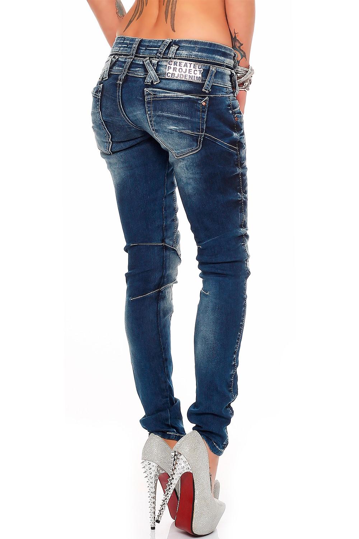 Verschiedene-Cipo-amp-Baxx-Damen-Jeans-Hosen-Slim-Fit-Regular-Fit-Streetwear Indexbild 38