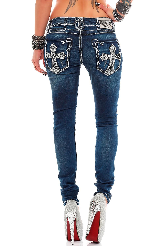 Verschiedene-Cipo-amp-Baxx-Damen-Jeans-Hosen-Slim-Fit-Regular-Fit-Streetwear Indexbild 20