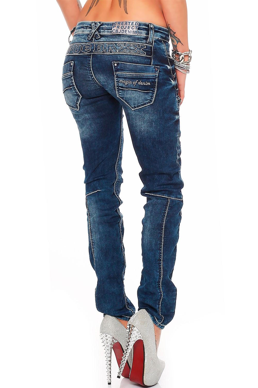 Verschiedene-Cipo-amp-Baxx-Damen-Jeans-Hosen-Slim-Fit-Regular-Fit-Streetwear Indexbild 23
