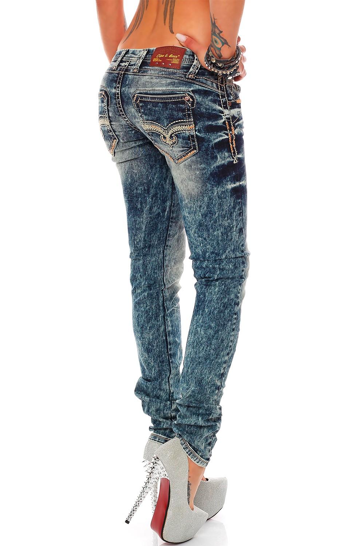 Verschiedene-Cipo-amp-Baxx-Damen-Jeans-Hosen-Slim-Fit-Regular-Fit-Streetwear Indexbild 4
