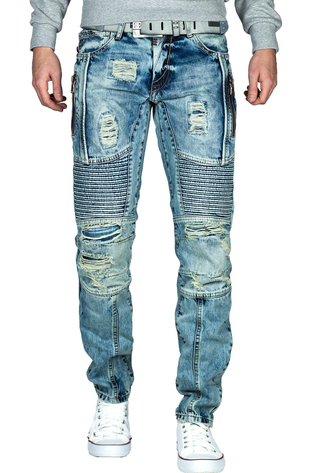 Cipo-amp-Baxx-Uomo-Jeans-Pantaloni-ricamate-Biker-Style-streetwear-nervature-pattern-Dope miniatura 39