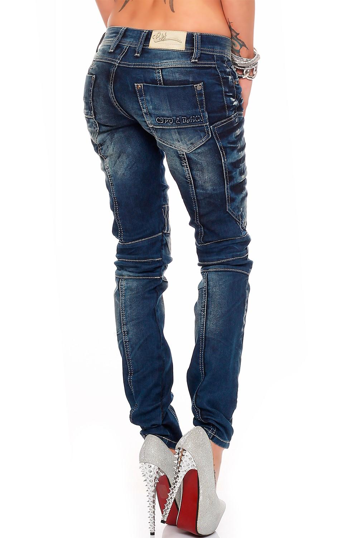 Verschiedene-Cipo-amp-Baxx-Damen-Jeans-Hosen-Slim-Fit-Regular-Fit-Streetwear Indexbild 33