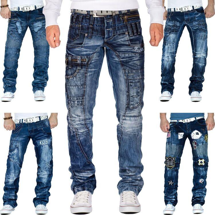 Cipo /& Baxx Uomo Jeans Tempo Libero Pantaloni Clubwear Biker Style Denim discoteca Dope WOW