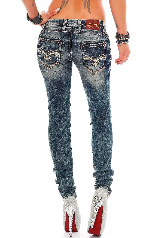 Verschiedene-Cipo-amp-Baxx-Damen-Jeans-Hosen-Slim-Fit-Regular-Fit-Streetwear Indexbild 3