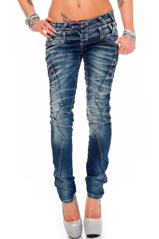 Verschiedene-Cipo-amp-Baxx-Damen-Jeans-Hosen-Slim-Fit-Regular-Fit-Streetwear Indexbild 37