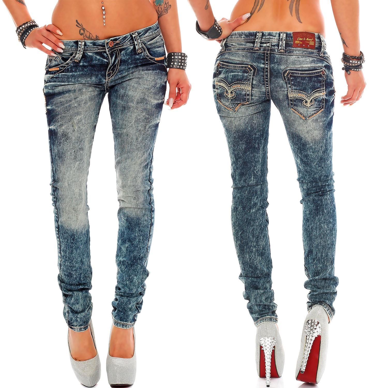 Verschiedene-Cipo-amp-Baxx-Damen-Jeans-Hosen-Slim-Fit-Regular-Fit-Streetwear Indexbild 5
