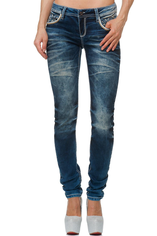 Verschiedene-Cipo-amp-Baxx-Damen-Jeans-Hosen-Slim-Fit-Regular-Fit-Streetwear Indexbild 67