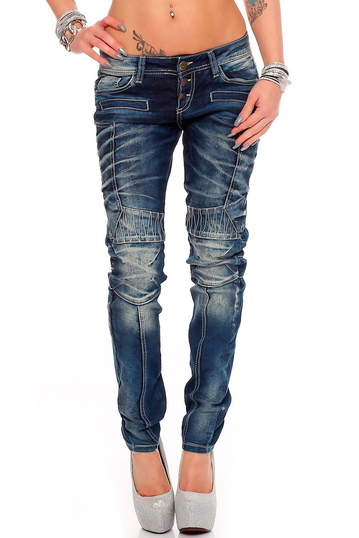 Verschiedene-Cipo-amp-Baxx-Damen-Jeans-Hosen-Slim-Fit-Regular-Fit-Streetwear Indexbild 32