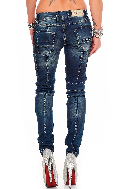 Verschiedene-Cipo-amp-Baxx-Damen-Jeans-Hosen-Slim-Fit-Regular-Fit-Streetwear Indexbild 34