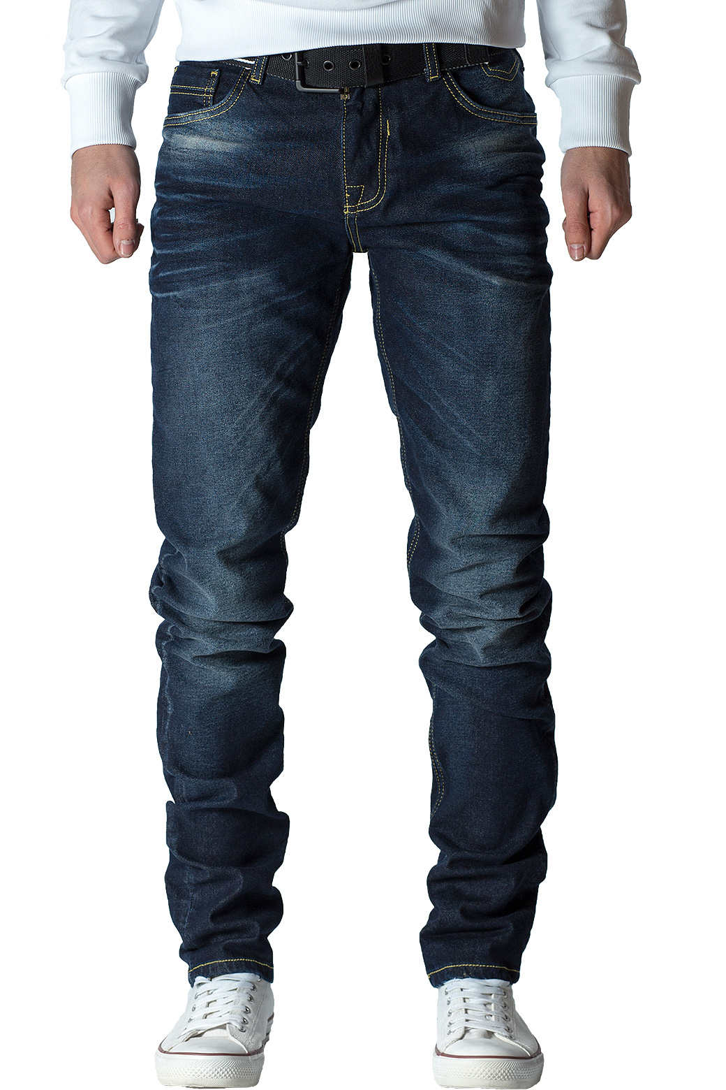 Cipo-amp-Baxx-Uomo-Jeans-Pantaloni-ricamate-Biker-Style-streetwear-nervature-pattern-Dope miniatura 29